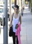 Jaimie Alexander - Leaving the Gym in Los Angeles, March 2014