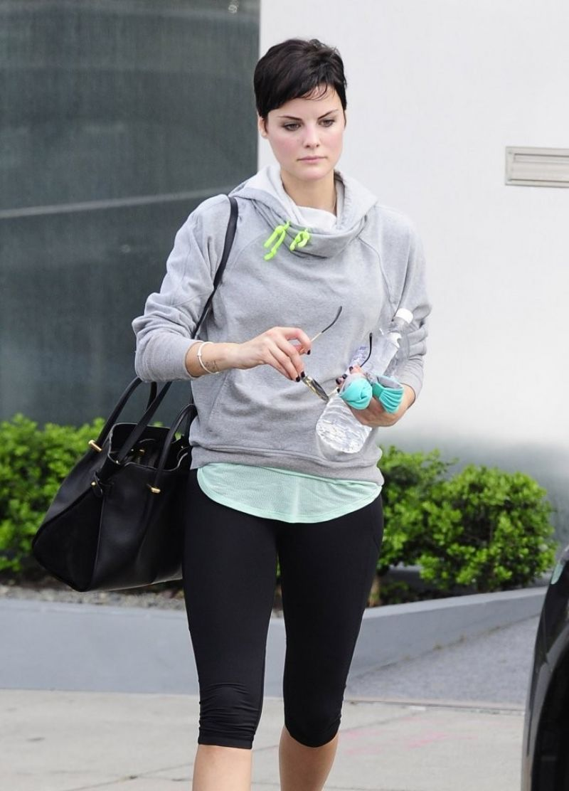 Jaimie Alexander - Leaving the gym in West Hollywood, March 2014