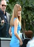 Jane Seymour in Blue Dress - Cafe Habana - Malibu