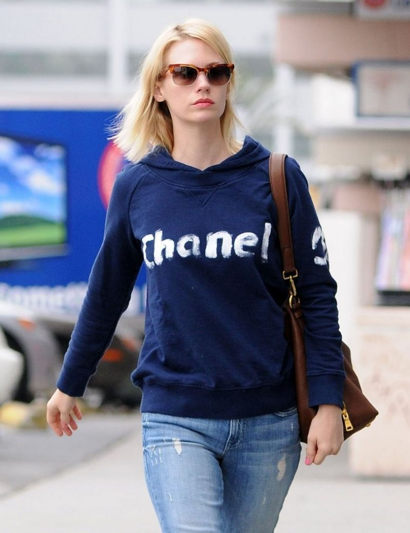 January Jones in Jeans - Shopping at Rite Aid in Los Feliz - March 2014