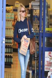 January Jones in Jeans - Shopping at Rite Aid in Los Feliz - March 2014