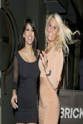 Jasmin Walia and Danielle Armstrong Night Out Style - Outside The Brickyard Bar - Romford, March 2014