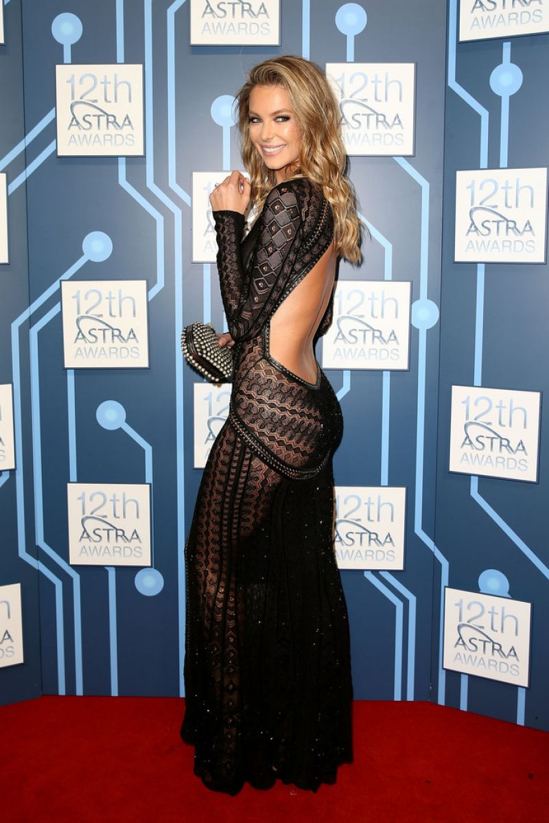 Jennifer Hawkins in Roberto Cavalli - 2014 ASTRA Awards in Sydney