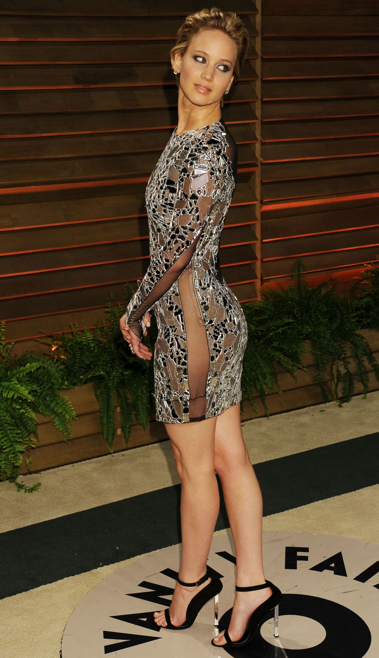 Jennifer Lawrence in Tom Ford Mini Dress - 2014 Vanity Fair Oscar Party in Hollywood
