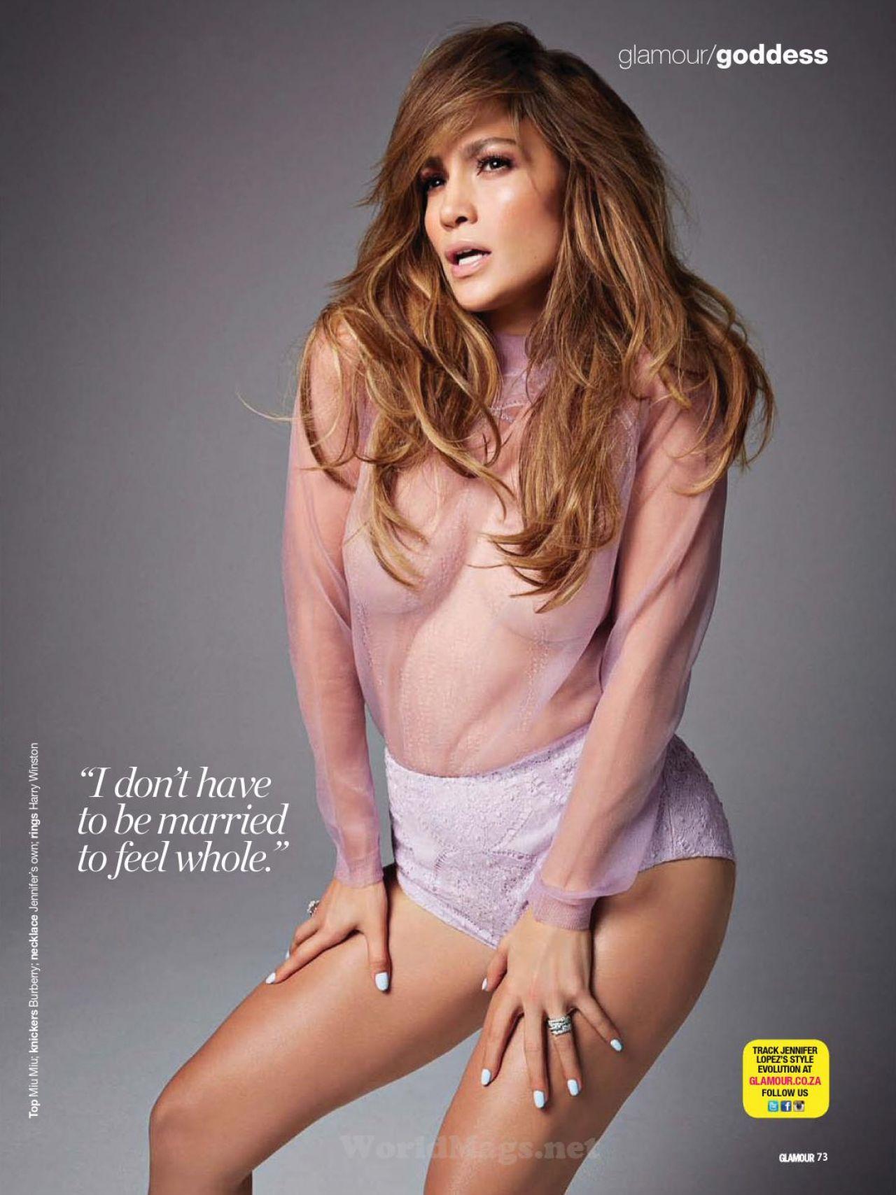 Jennifer Lopez - Glamour Magazine Uk - March 2014 Issue-9982