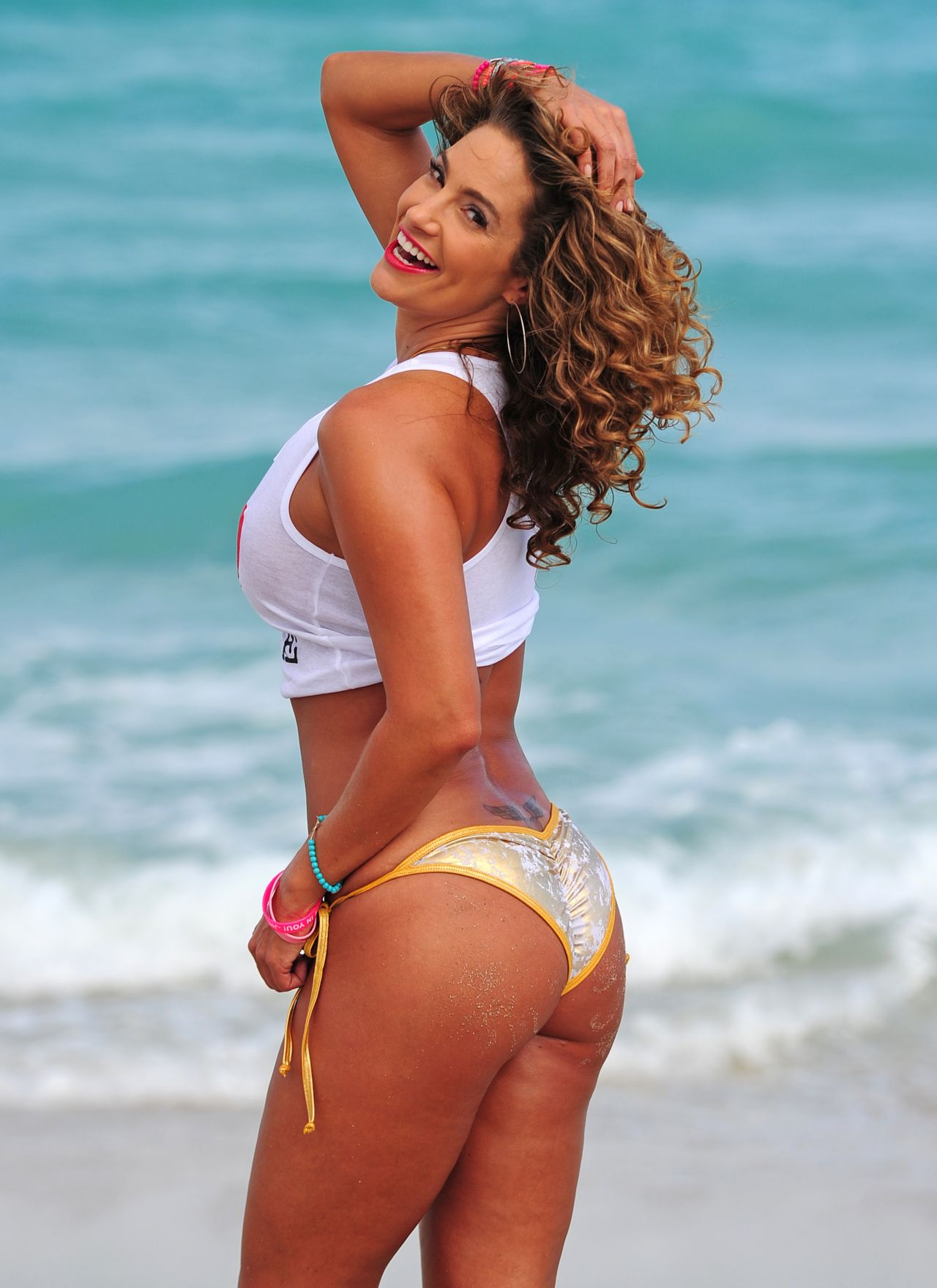 Jennifer Nicole Lee Photoshoot - Miami Beach - March 2014