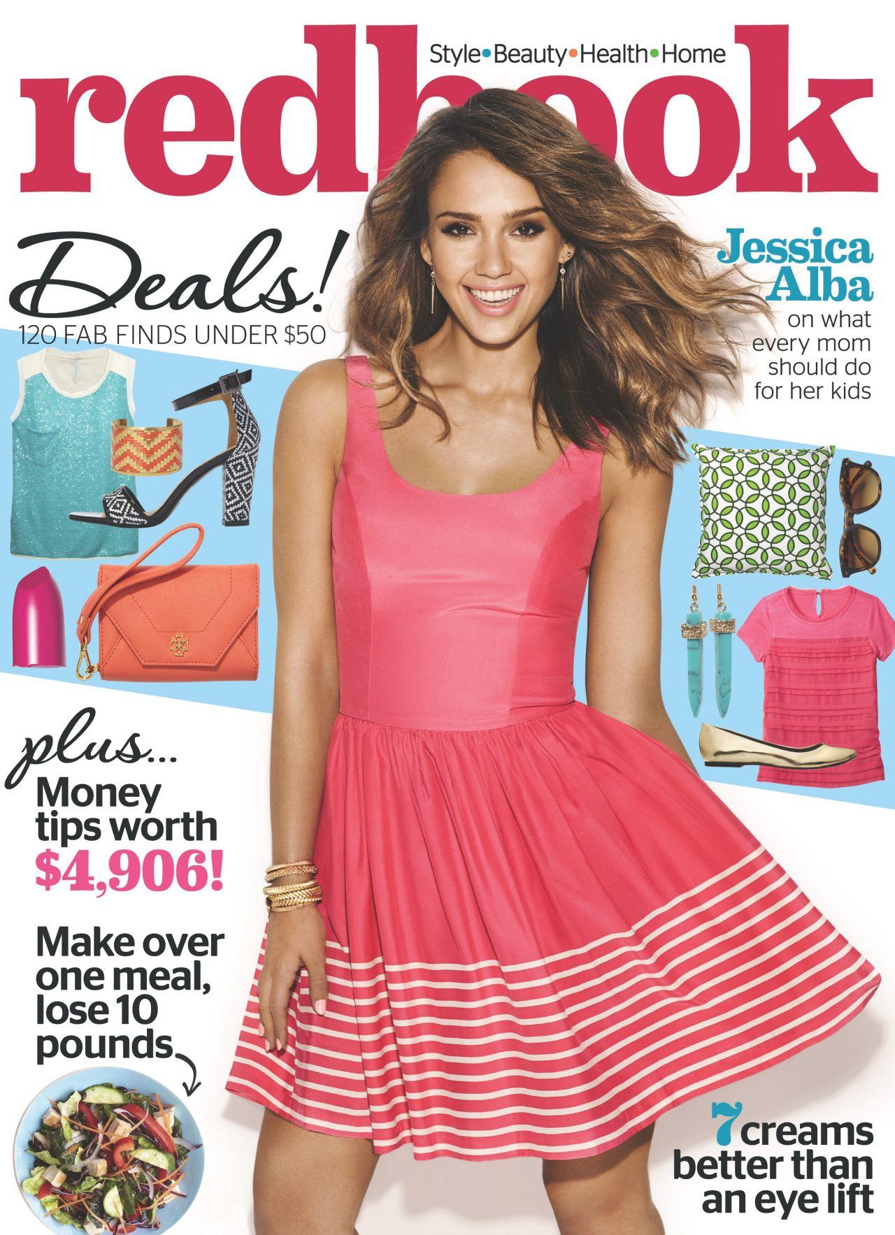 Jessica Alba - Redbook Magazine - April 2014 Issue