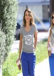 Jessica Alba Street Style - Out in Los Angeles - March 2014