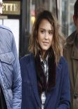 Jessica Alba Street Style - out in Paris