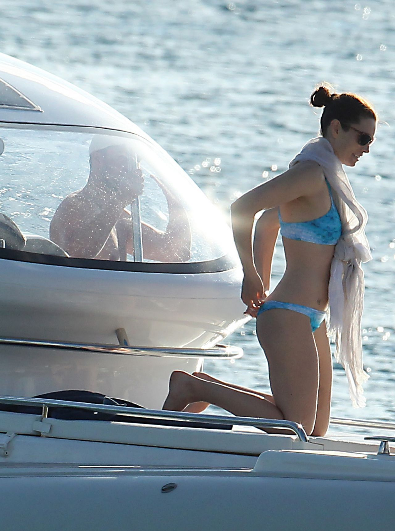Jessica Biel In A Bikini Barbados March 2014