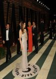 Jessica Biel Wearing Chanel Couture Gown at 2014 Vanity Fair Oscar Party in Hollywood