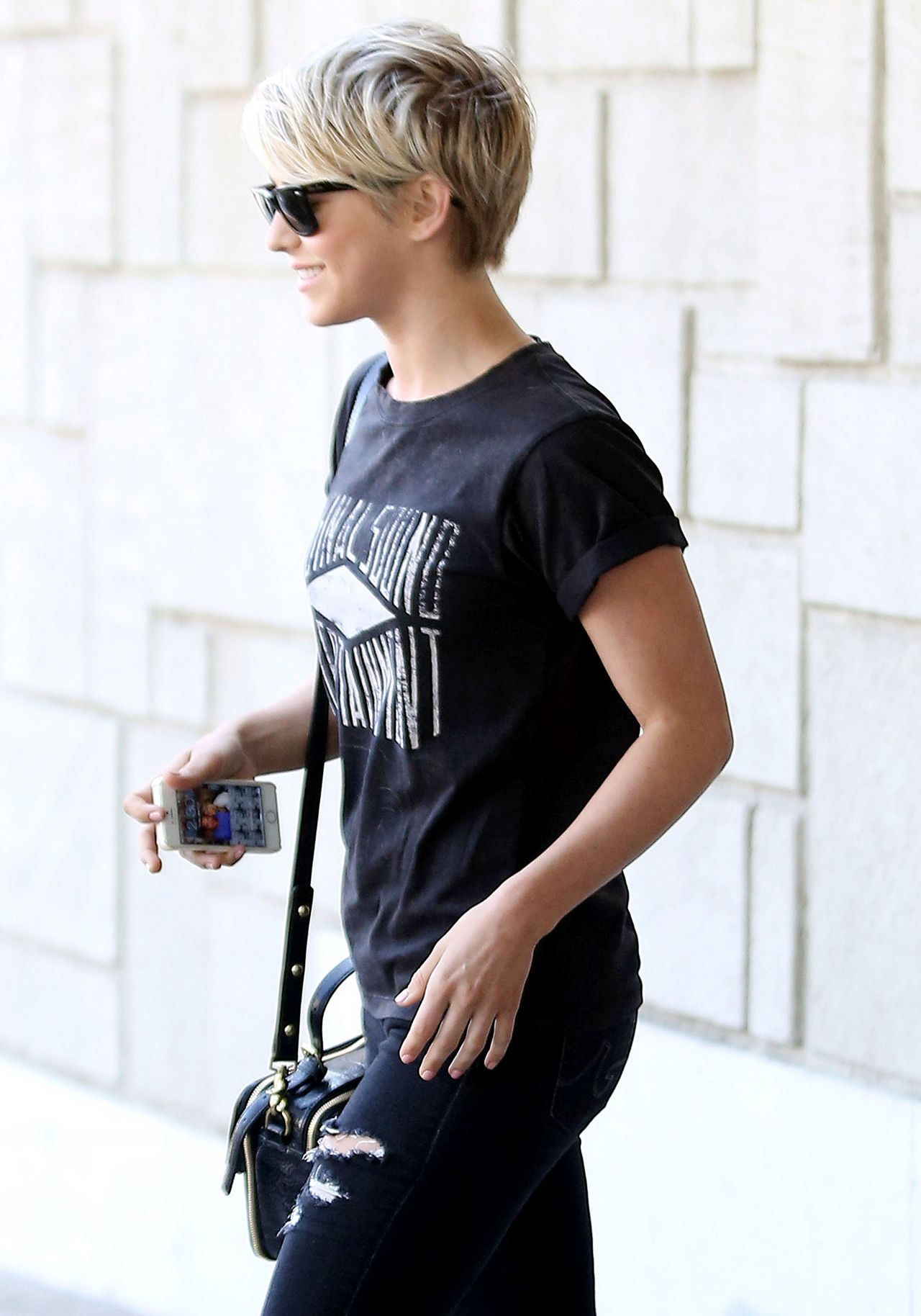 Julianne Hough - Leaves Salon After Getting a Hair Trim - March 2014