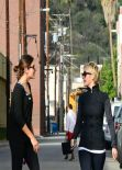 Julianne Hough & Nikki Reed - Leaving the Gym - Studio City, March 2014
