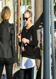 Kaley Cuoco Casual Style - Out for Lunch With Friends - March 2014
