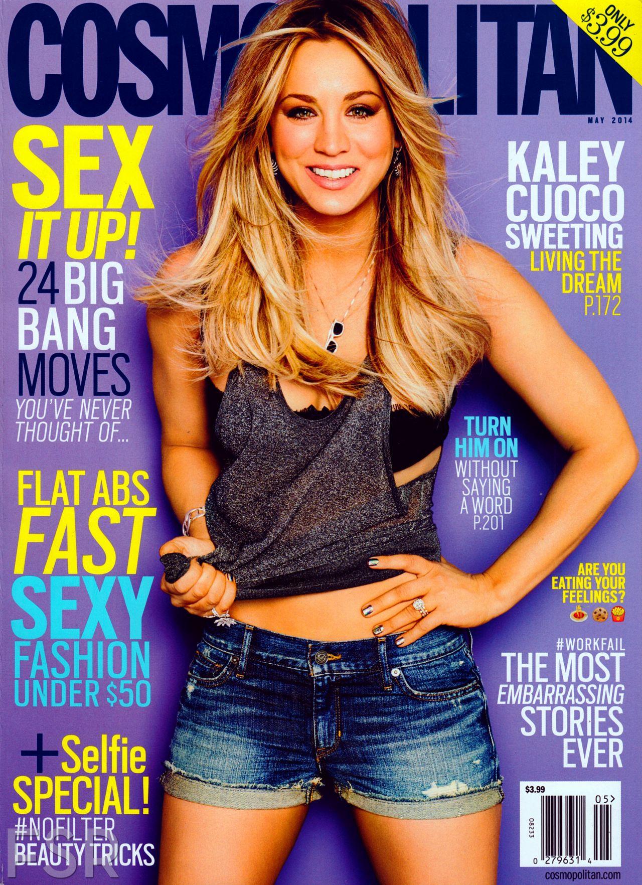 kaley cuoco cosmopolitan magazine may issue