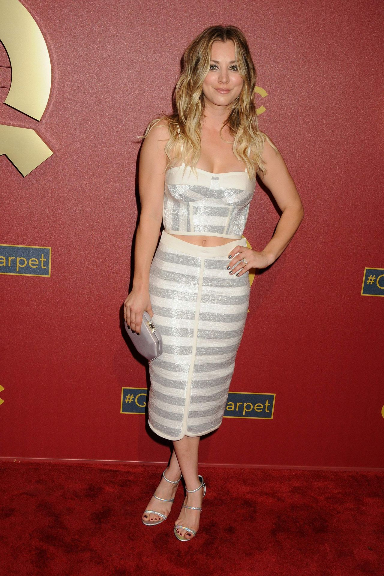 Kaley Cuoco In Jonathan Simkhai Qvc 5th Annual Red