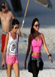 Karina Jelinek Bikini Candids - Miami, March 2014