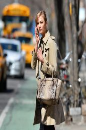 Karlie Kloss Casual Style - Out in NYC - March 2014