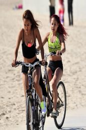 Karrueche Tran - Takes a Bike Ride in Venice
