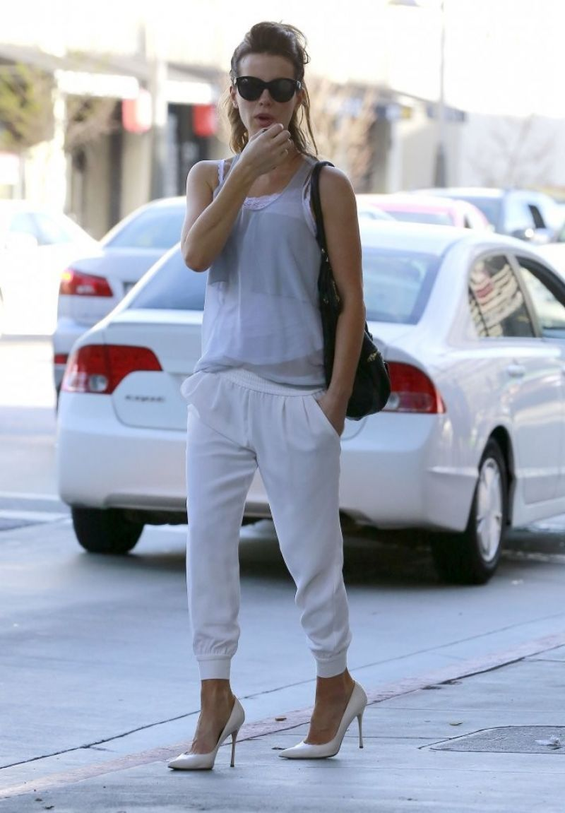 Kate Beckinsale Street Style - Brentwood, March 2014