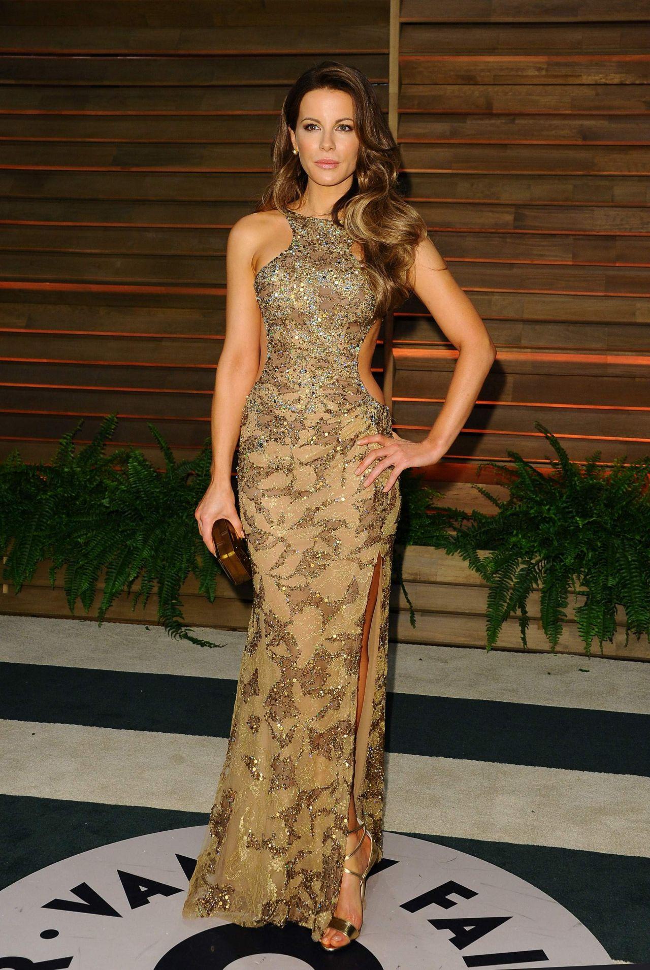 Kate Beckinsale Wearing Elie Saab Gown 2014 Vanity Fair Oscar Party