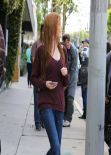 Katherine McNamara Leaving A Salon In West Hollywood - March 2014