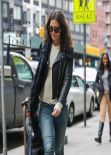 Katie Holmes Casual Street Style - Out in New York City, March 2014