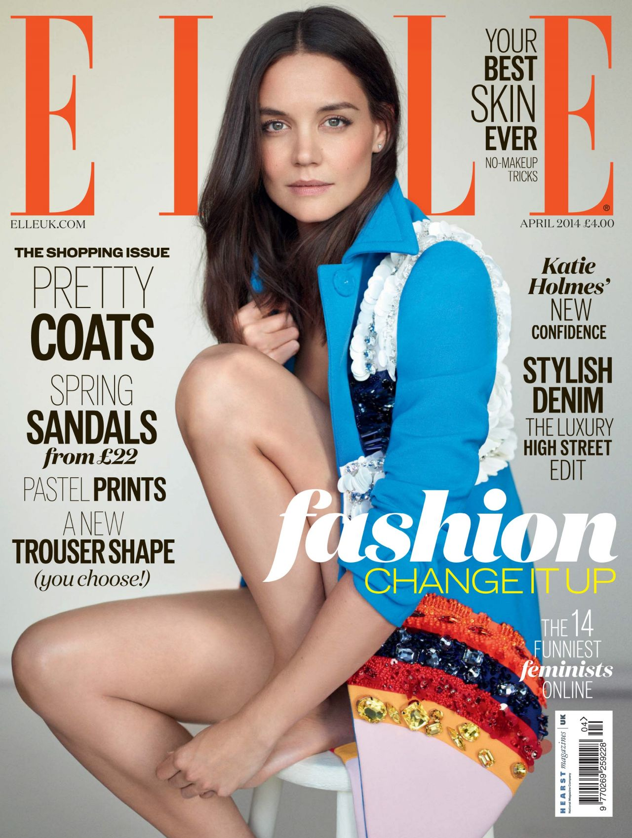 Katie Holmes - Elle Magazine (UK) - April 2014 Cover
