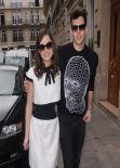 Keira Knightley in Paris - Stresa Sestaurant, March 2014