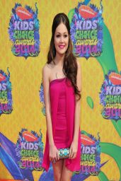 Kelli Berglund Wearing Armani Dress - Nickelodeon's Kids' Choice Awards 2014