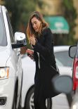Kelly Brook - Sneezes as She Leaves Rite Aid Pharmacy in Hollywood