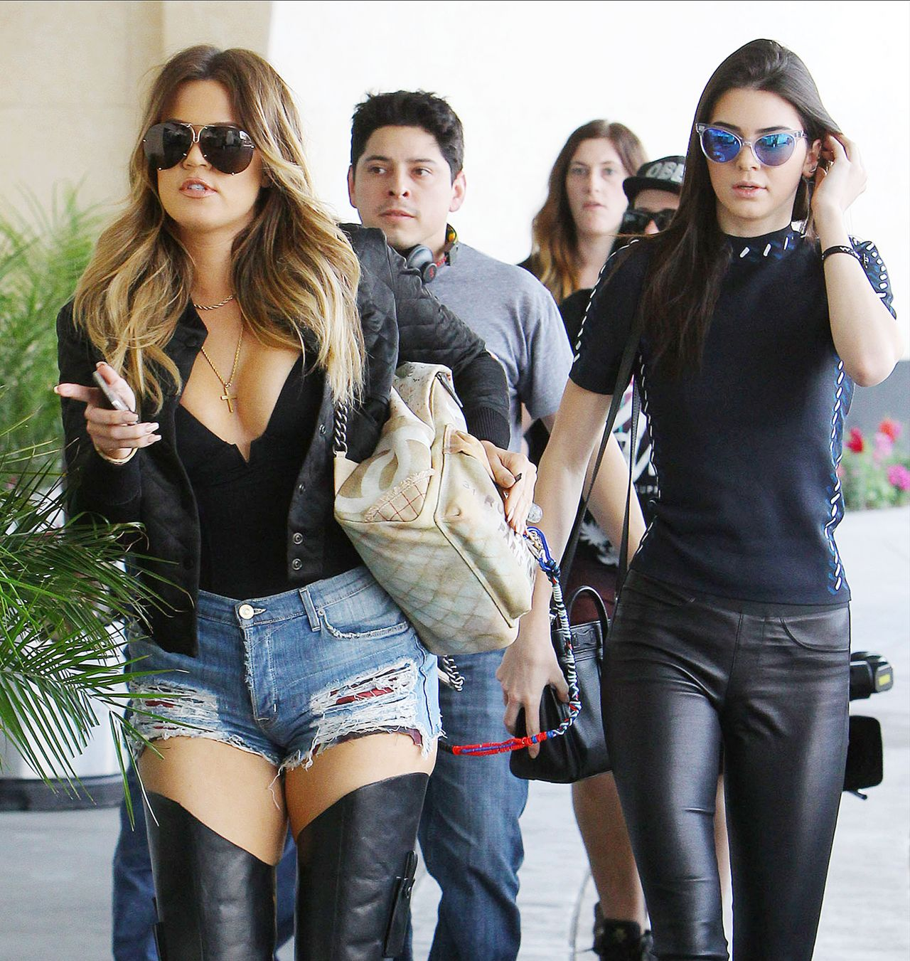 Khloe Kardashian & Kendall Jenner Style – Arriving at Loews Hollywood Hotel, March 2014