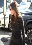 Kim Kardashian All in Black - Arriving at a Studio in Los Angeles