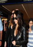Kim Kardashian - Arriving at Miami Airport - March 2014