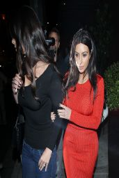 Kim Kardashian at Crustacean Restaurant in Beverly Hills - Dines With Brittny Gastineau