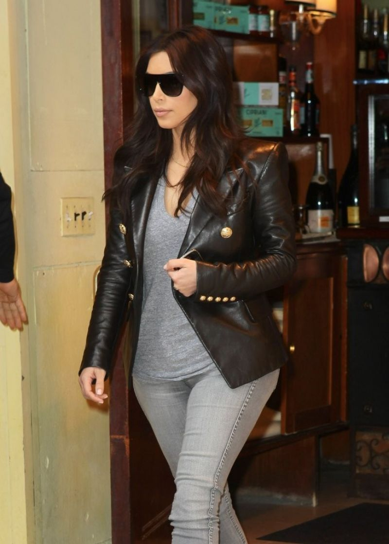 Kim Kardashian in Jeans - Out for Lunch in NYC - March 2014
