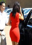 Kim Kardashian in Los Angeles - Arriving at a Studio, March 2014