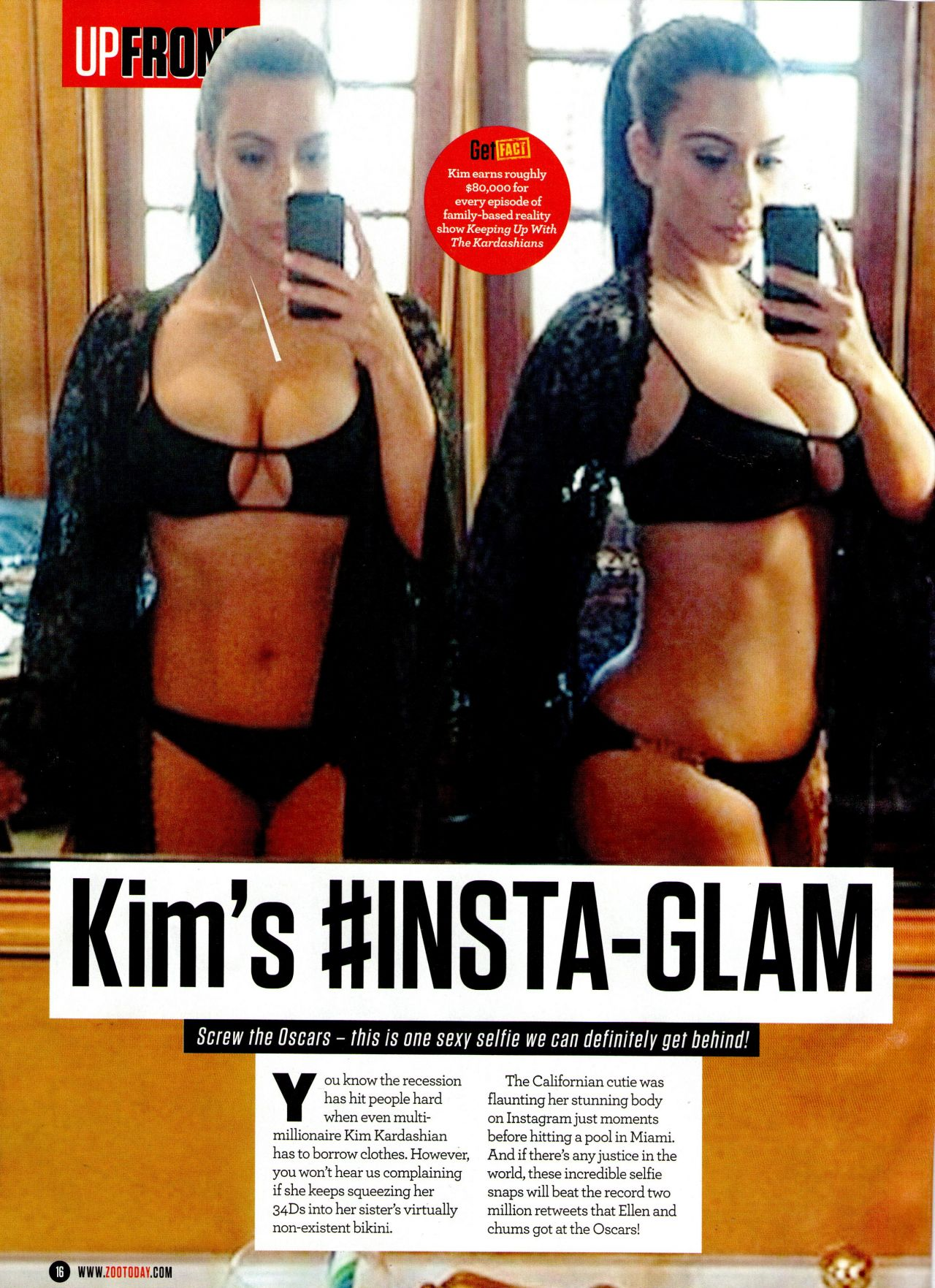 Kim Kardashian - UPFRONT-ZOO Magazine - March 21st, 2014