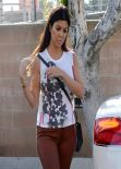 Kourtney Kardashian Arriving at a Studio in Los Angeles