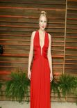 Kristen Bell In Zuhair Murad Red Gown - 2014 Vanity Fair Oscars Party in West Hollywood