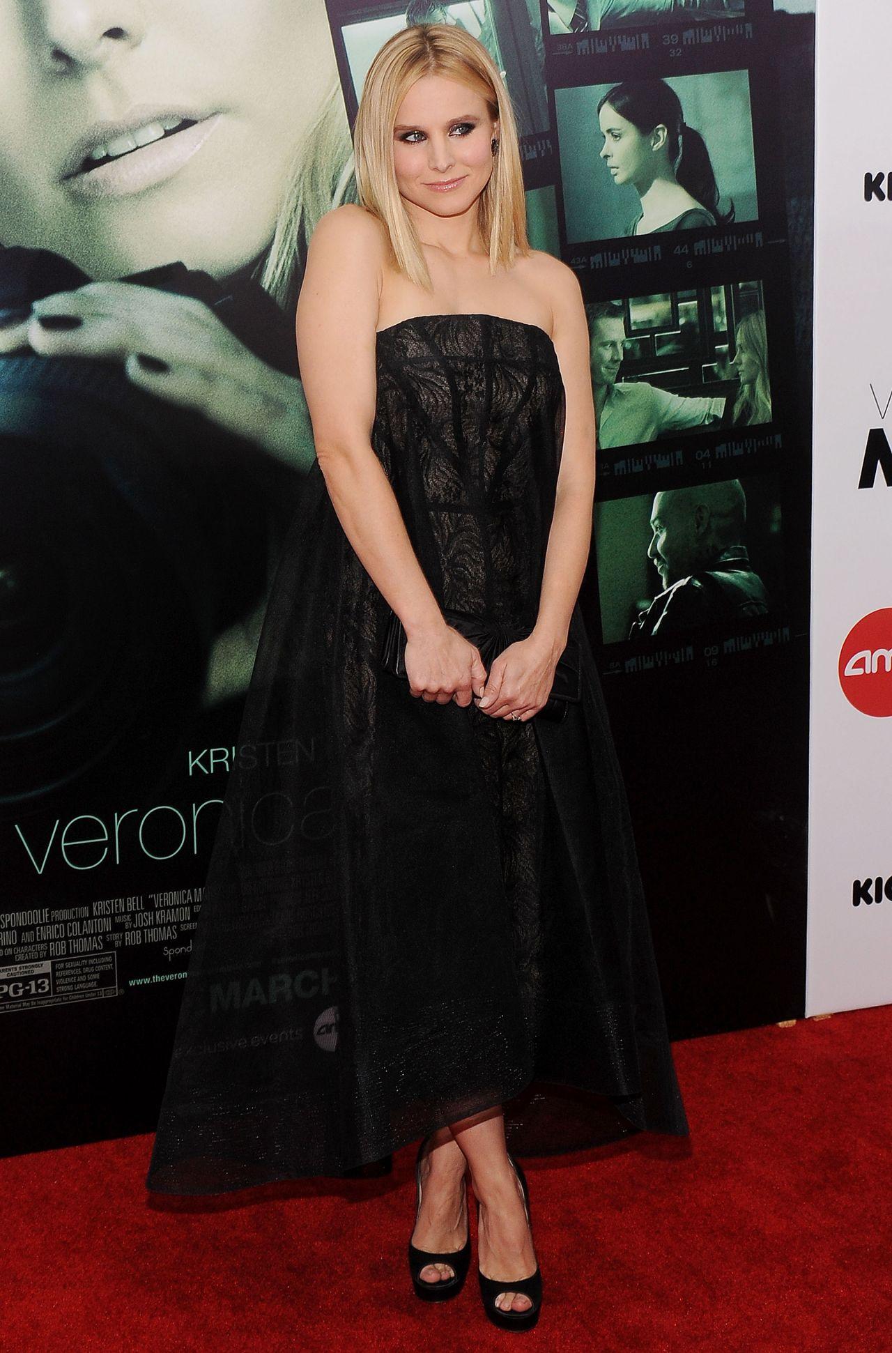 Kristen Bell On Red Carpet Veronica Mars Screening In