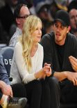 Kristen Dunst at NBA basketball Game New Orleans Pelicans vs Los Angeles Lakers