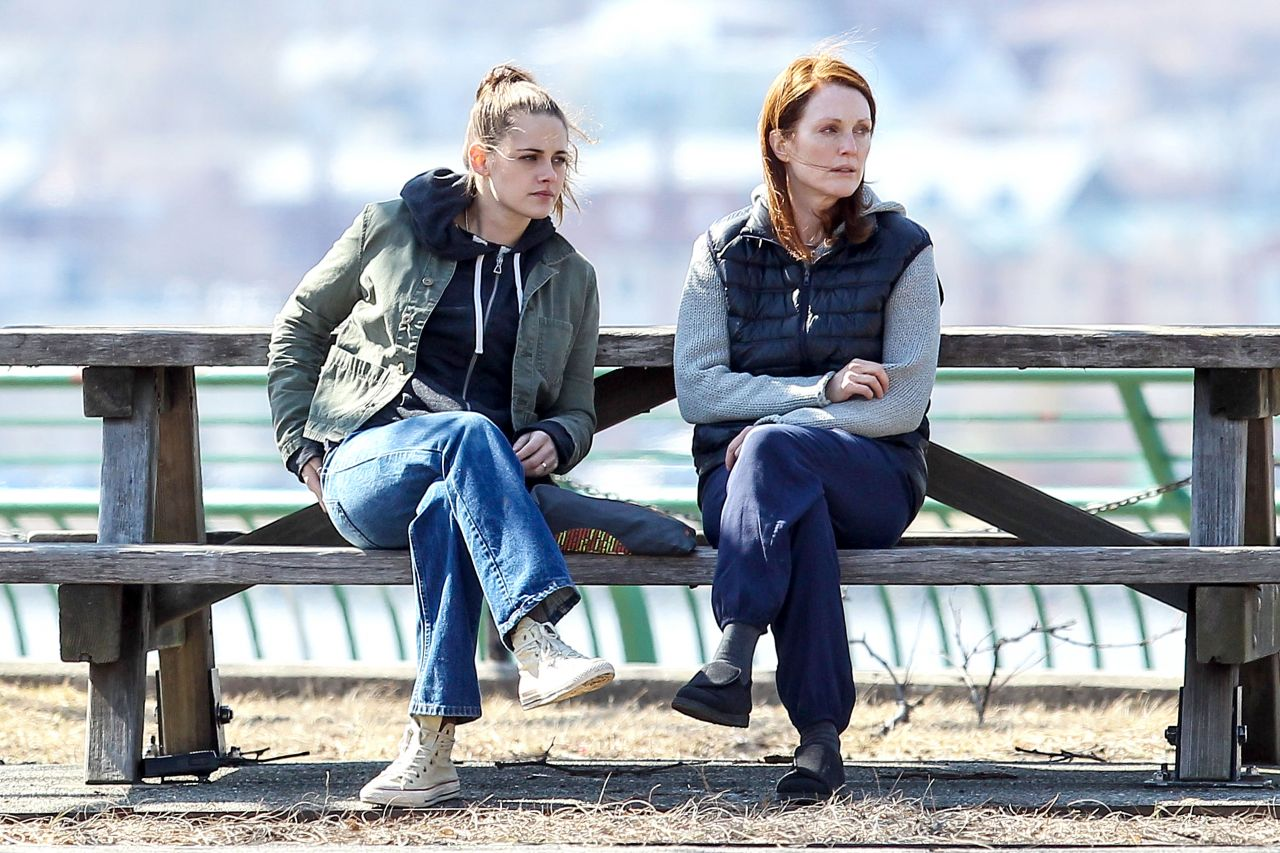 Kristen Stewart Julianne Moore Still Alice Set Photos
