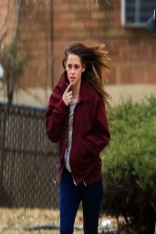 Kristen Stewart Street Style - Out in NY - March 2014