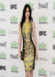 Krysten Ritter Wearing Versace Mini Dress - 2014 Film Independent Spirit Awards