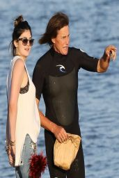 Kylie Jenner and Bruce Jenner at a Beach in Malibu - March 2014