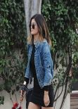 Kylie Jenner Street Style - Shops at the Farmers