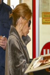 Kylie Minogue in Berlin - Arriving on Flight - March 2014