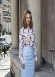Léa Seydoux in Paris- Miu Miu Fashion Show, March 2014