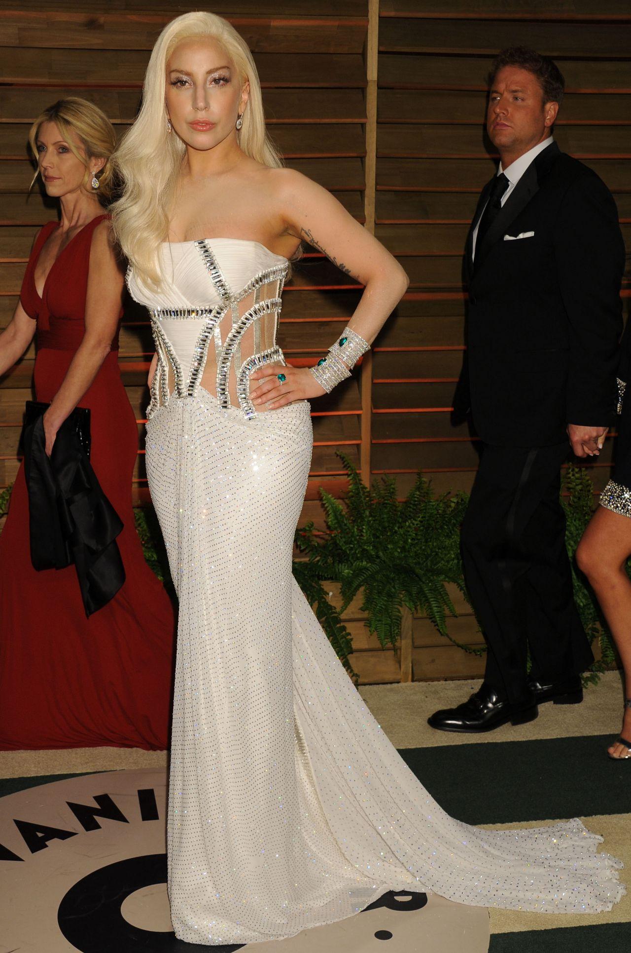 Lady Gaga 2014 Vanity Fair Oscar Party